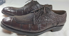 Brown Belly Crocodile Real Leather Oxford Classic Pattern Design Shoes US 8.5-9 - $779.99 - $799.99