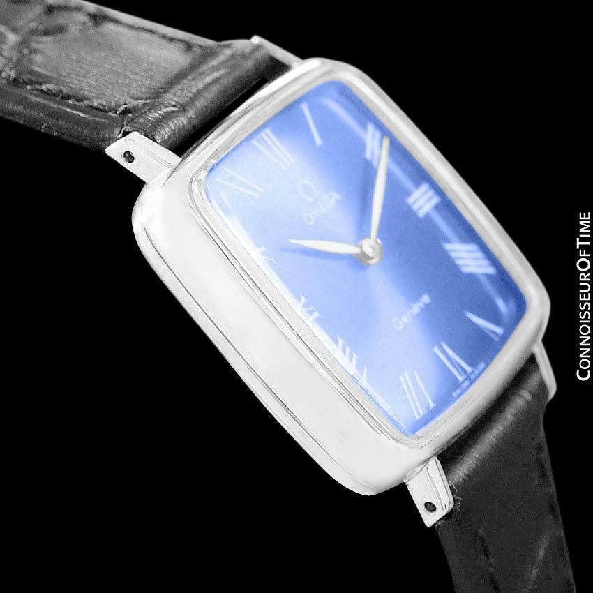 1970 Omega Geneve Vintage Unisex Midsize SS Steel Watch - Mint with Warranty
