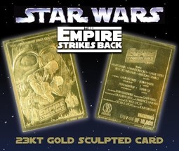 STAR WARS EMPIRE STRIKES BACK 23K GOLD CARD LIMITED EDITION OF 10000 - $8.56