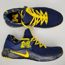 Nike Free TR 8 University of Michigan Athletic Shoes Mens Size 9 Blue Yellow - $112.19