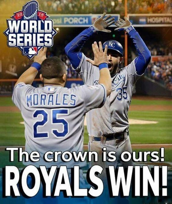 Kansas City ROYALS The Crown Is Ours!  Royals Win!   3 x 3.5 Fridge Magnet for sale  USA