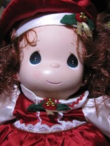 Sweet 1999 Precious Moments Christmas Holly Dol... - $12.19