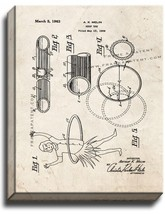 Hoop Toy Patent Print Old Look on Canvas - $39.95+