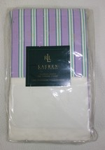 New Ralph Lauren Watermill Stripe Lavender Set Lot of 2 Standard Pillowcase - $99.95