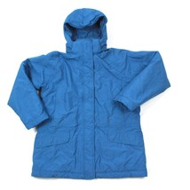 VINTAGE LL Bean Hooded Jacket Petite M Parka Insulated Quilt Lined Thins... - $37.78