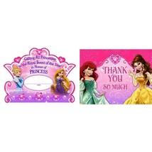 Disney Princess 8 Invitations 8 Thank You Postcards Hallmark Party Pack - $5.93