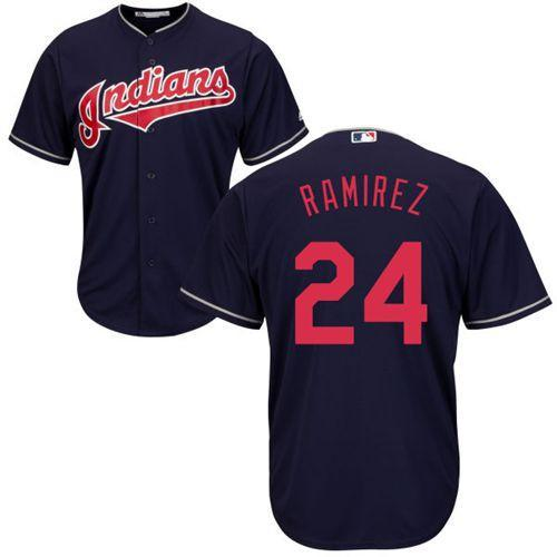 Cleveland Indians Cool Base MLB Custom Blue Jersey