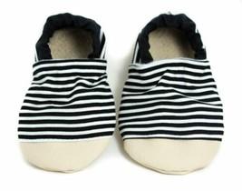 Non-Slip Black and White Stripe Yeti Moccs - $21.78+