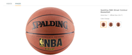 """NBA Street Spalding Outdoor Basketball Authentic (28.5"""") BRAND NEW - $18.81"""