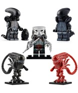 5pcs/set Alien & Predator - Xenomorph Monster Themed Minifigures Gift Toys - $11.99