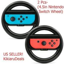 2x PCS 4.5'' Joy-Con Steering Wheel Controller Grips Nintendo Switch 2017 - $9.85