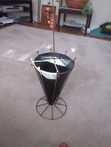Mid Century Umbrella Shaped  Black/Gold Metal Umbrella Stand  - $32.99