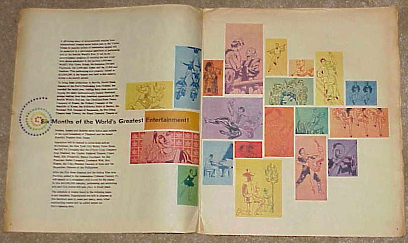 1962 SEATTLE WORLD's FAIR - Schedule of Events