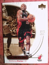 BASKETBALL  2000-01 UPPER DECK OVATION #28  ANTONY CARTER   MAIMI HEAT - $0.99