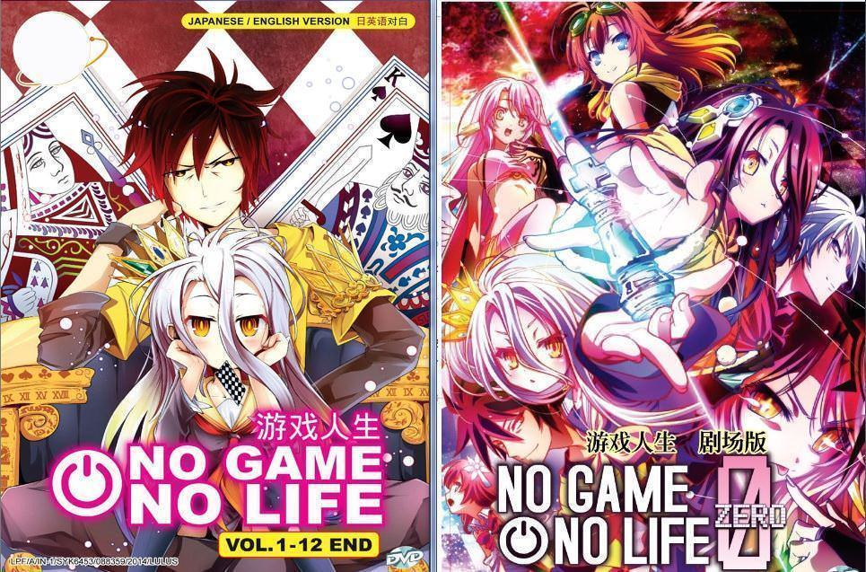 NO GAME NO LIFE VOL.1-12 END Eng Dub + ZERO Movie SHIP FROM USA