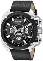 Diesel Bamf DZ7345 Stainless Steel Black Leather Men's Watch - $180.16 CAD