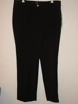 AK Ann Klein Black Boot Leg Pants-14P NEW $79. - $24.70