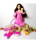 Barbie Pregnant Midge Doll Happy Family For Barbie doll Baby Trolley Nur... - $13.02