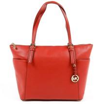 Red ONE SIZE Michael Kors Womens Handbag JET SET ITEM 35F6GTTT9L RED - $207.31