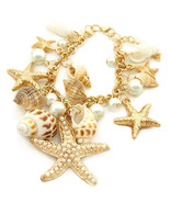 "Truly Lovely NEW  ""By The Sea""~Bracelet~Starfish/Pearls/Shells~Adjustabl... - $29.99"