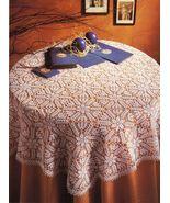 Challenging Splendor Tablecloth TipTop Topper Anemonies Doilies Crochet ... - $9.99