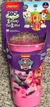 Paw Patrol Pink Playtex Spoutless Cups 10oz Stage 2 Girls 12m+ Sippy Cup - $6.92