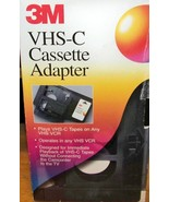 VHS-C Cassette Adapter …3M - $35.00