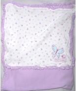 Carter's Just One Year Little Friends Cotton Baby Blanket Purple Butterf... - $34.62