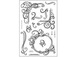 Stampendous Flourish Frames Clear Stamp Set #SSC167 - $11.99
