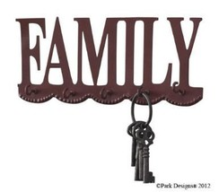 "Park Designs ""Family"" Key Holder, Wall Mounted Hook image 1"