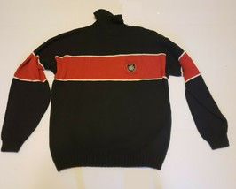Chaps Ralph Lauren Turtle Neck Red/Black/White Handframe Sweater - Men's Large - $21.03