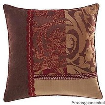 NEW Croscill Ryland Square Throw Pillow in Red,... - $29.99