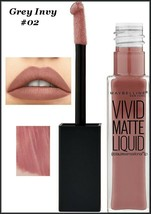 NEW Maybelline Color Sensational Vivid Matte Liquid Lipstick Grey Invy #... - $6.95