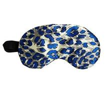Elegant and Stylish Eye Mask Soft Silk Eyeshade, Leopard(Blue)