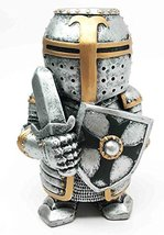 "Doll House Miniature 4.5"" Medieval Sword Shield Infantry Sculpture Suit of Armor - $16.99"