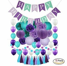 Mermaid Party Supplies and Under the Sea Decorations for Girls and Kids ... - $22.35