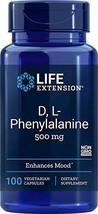 Life Extension D-L-Phenyalanine 500 mg, 100 Vegetarian Capsules - $16.33
