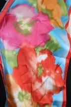 Lauren Ralph Lauren Watercolor Floral 100% Silk Scarf 12x54 NEW - $34.60