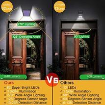 Solar Lights Outdoor, Mitaohoh 82 LEDs Wireless Waterproof Solar Motion Sensor L image 2