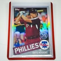 MLB RHYS HOSKINS PHILADELPHIA PHILLIES 2020 TOPPS CHROME REFRACTOR #85TC... - $1.79