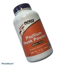 NOW Supplements Psyllium Husk Powder 12-Ounce Soluble Fiber Exp 12/2022 - $11.73