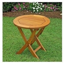 "NEW 19"" Folding Accent Patio End Table Round Plant Stand Garden Furnitur... - $74.15"