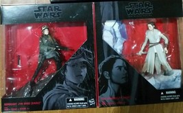 NEW Set of 2 Star Wars Rey & Sergeant Jyn Erso Figurine Black Series - F... - $19.99