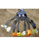 Halloween Spider with Shoes and Mr. Shivers Skeleton Foldout Decoration ... - $14.95