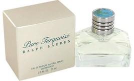 Ralph Lauren Pure Turquoise Perfume 2.5 Oz Eau De Parfum Spray image 2