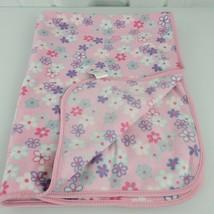 Gymboree Blanket Fun Floral Girls Pink Fleece Purple White Flowers Vinta... - $39.59