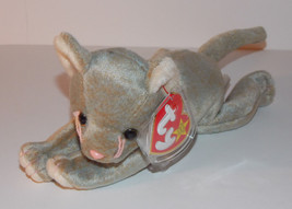 Ty Beanie Baby Scat Plush 6in Cat Kitten Stuffed Animal Retired with Tag... - $3.99
