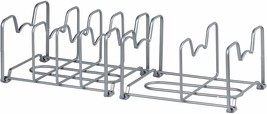Cabinet Pan Pot Lid Organizer Rack Drying Drainer Cookware Stand Organiz... - $30.67