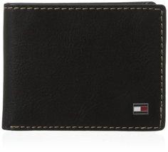 Tommy Hilfiger Men's Logan Passcase, Black, One Size