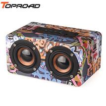 TOPROAD® Wooden Wireless Bluetooth Speaker Portable HiFi Shock Bass Altavoz - $33.07